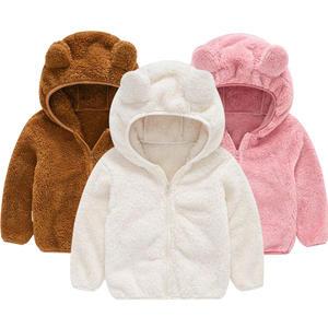 Jacket Baby Coat Hoodie Fleece Girls Autumn Boys Winter Cute Sweaterr And 80-120-Wear