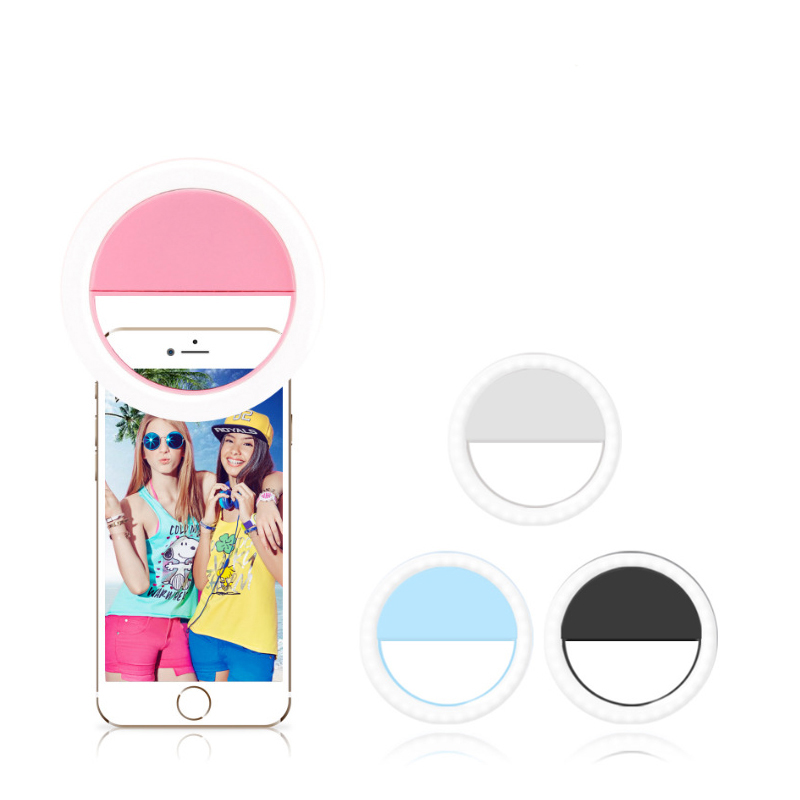 Universal Selfie Led Luminous  Flash Ring Light Portable Mobile Selfie Lamp For Phone Clip Lampe Telephone  Lens Photography