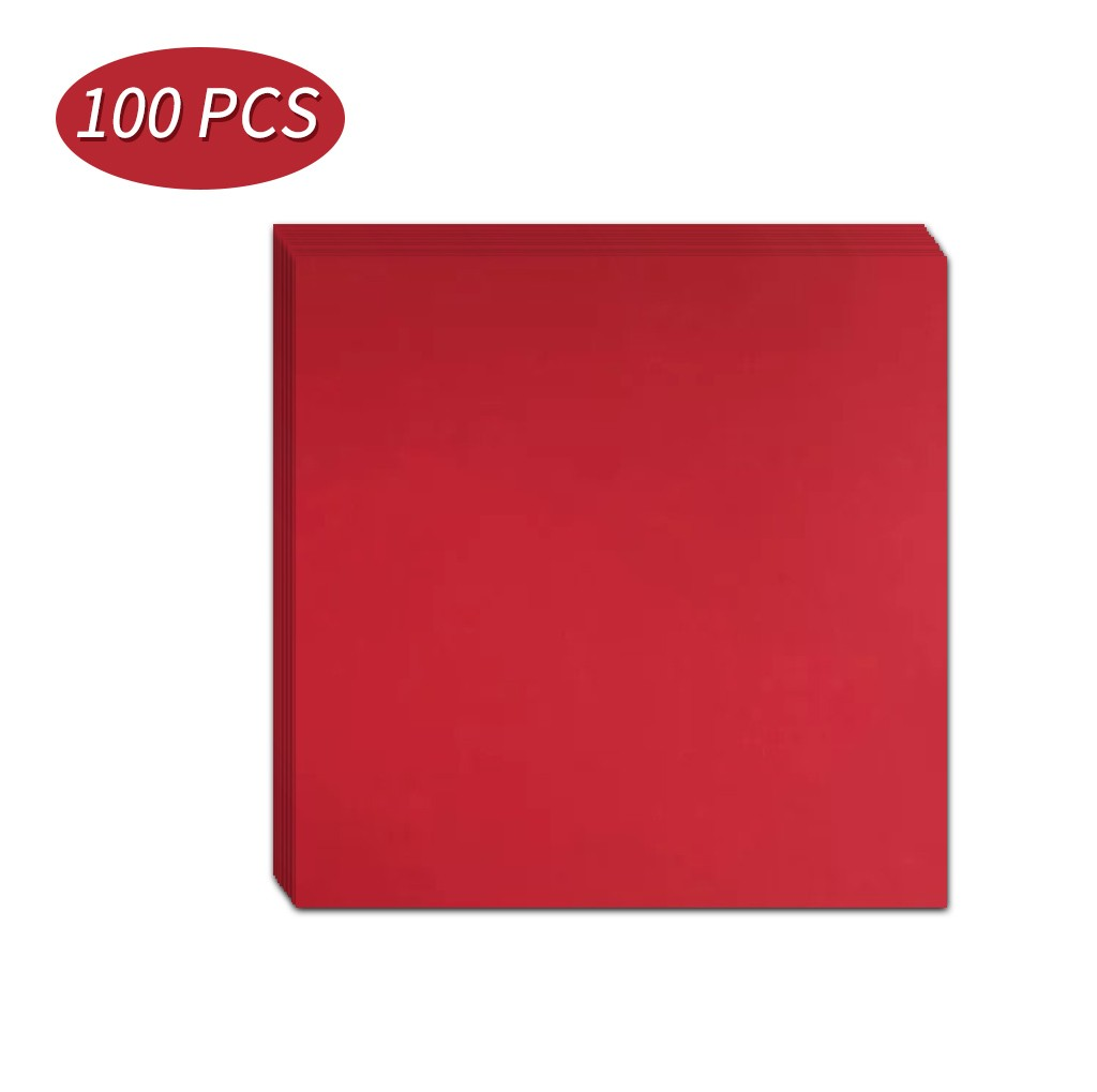 100pcs Red Wedding Party Supplies Paper-cut Material 15*15cm Kids Handmade Folding Origami Paper Diy Scrapbooking Craft K2
