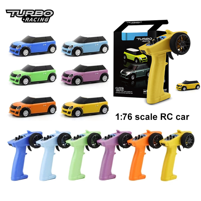 Turbo Racing 1:76 RC Car Mini Full Remote Proportional Electric RTR Kit Toys 2.4G Colorful Racing Experience Car New Patent Car