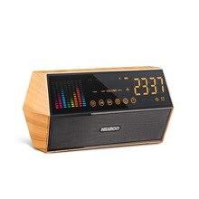 10 Вт Bluetooth динамик Ретро часы радио смарт беспроводной аудио для воспроизведения аудио смартфон планшетный ПК MP3