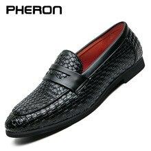 Erkek ayakkabısı marka örgü deri rahat sürüş Oxfords ayakkabı erkek mokasen ayakkabıları Moccasins İtalyan ayakkabı erkek daireler ayakkabı düğün