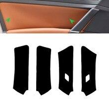 цена на Microfiber Leather Door Panel Cover For VW Golf 7 2014 2015 2016 Interior Car Door Handle Panel Cover Trim