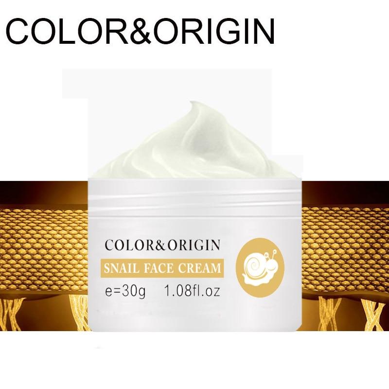 Color&Origin Snail Essence Whitening Cream Hyaluronic Acid Face Cream Collagen Anti-Aging Acne Treatment Moisturizer Skin Care