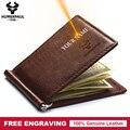 有名なブランドの二つ折り男性財布札入れ財布マネークリップ男性クランプスリムマネー財布送料彫刻