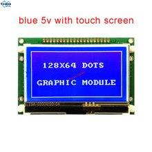 Module LCD 12864 COG Màn Hình Cảm Ứng Hiển Thị 5V Xanh Dương Song Song Nối Tiếp SPI ST7565P LG12864U Nhà Máy