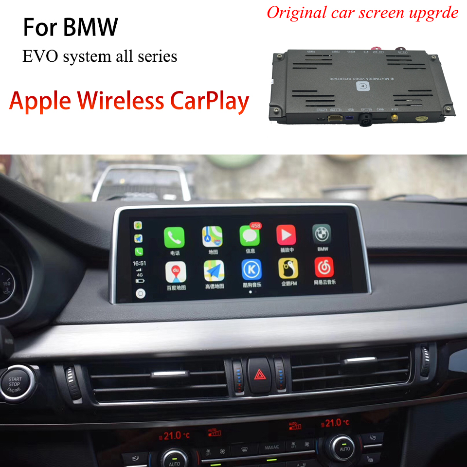 Wireless Apple Carplay Android Auto <font><b>For</b></font> <font><b>BMW</b></font> X1(F48) <font><b>X2</b></font> (F47) X3 (F25/G01) X4 (F26) X5 (F15) X6 (F16) M2 (F82) M4 (F87) M5 (F90) image