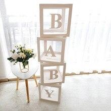 Scatola di palloncini trasparenti decorazioni per feste di nozze decorazioni per Baby Shower Baby 1st One Birthday Party Decor regalo Babyshower Supplies