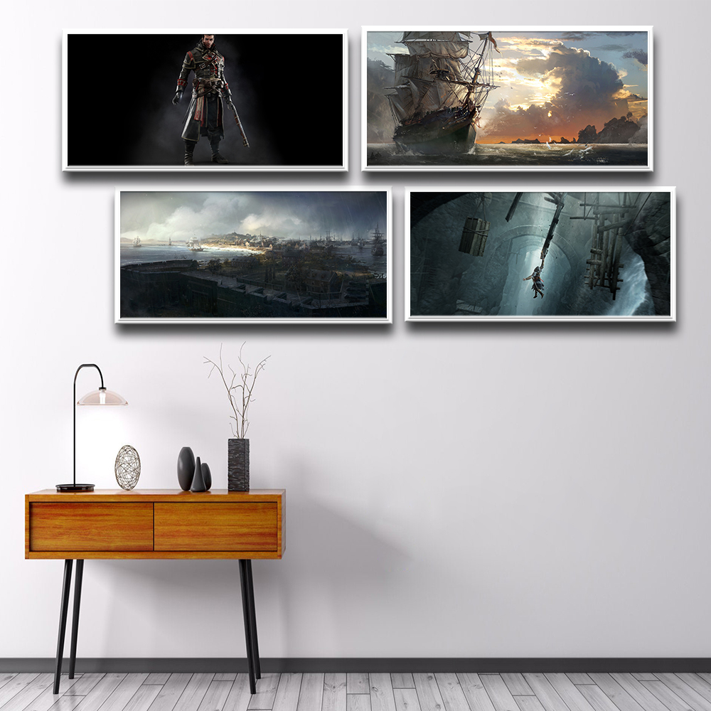 Hot Assassin's Creed Posters And Prints Wall Art Canvas Painting Wall Pictures Baby Girl Boy Room Decor