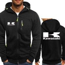 2019 Motorcycle Racing Sweatshirts For Kawasaki Moto Men's Casual Thick Warm Hoodies Winter Coat Cas
