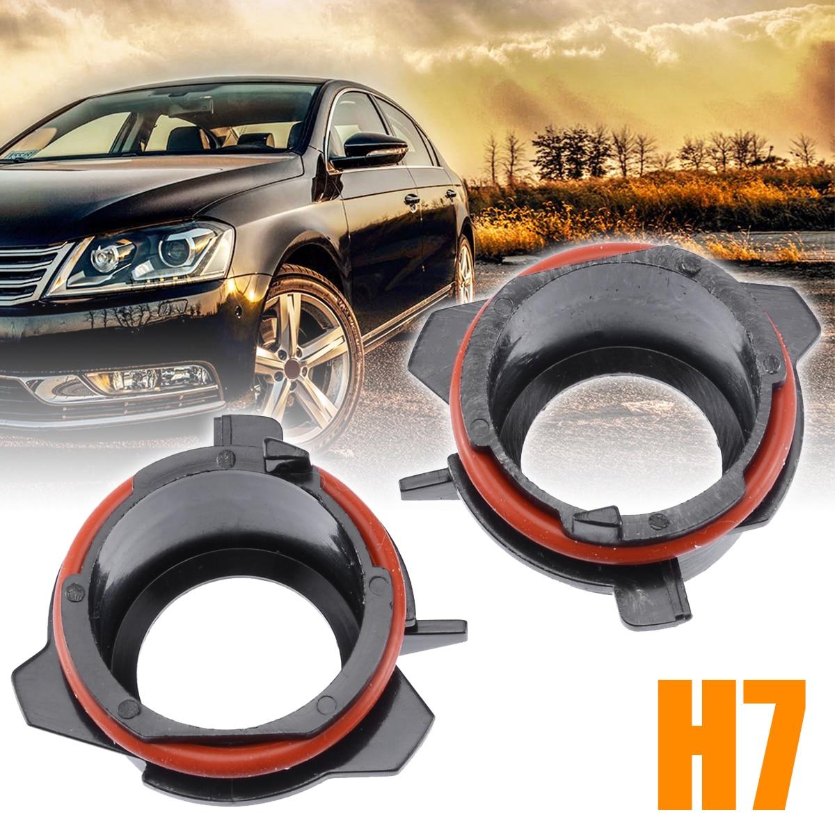 2pcs H7 Car Headlight Lamp HID XENON Bulb Adapter Holder Conversion Adapter Base For BMW E39 5 Series 1997-2003