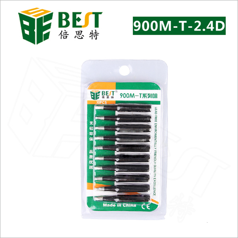 Free Shipping high quality 10pcs/lot 900M-T-2.4D Heat-Resistant Lead-free Soldering Iron Tip for  936