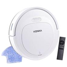 IKONKA V88 Robot Vacuum Cleaner Sweep&Wet Mop Simultaneously For Hard Floors&Carpet Run 150mins before Automatically Charge