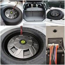 Sennuopu-Subwoofer amplificador de potencia para coche, Clase AB, altavoces de graves, caja de aluminio, Subwoofer activo, Instalación en sistema de Audio de neumáticos de repuesto