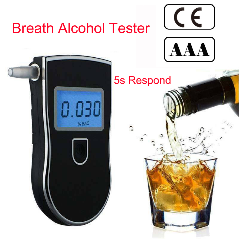 Breath Alcohol Tester AT-818 Breathalyzer Detector Professional Police Digital At818 Professional At 818 2019 Hot Sale Detector
