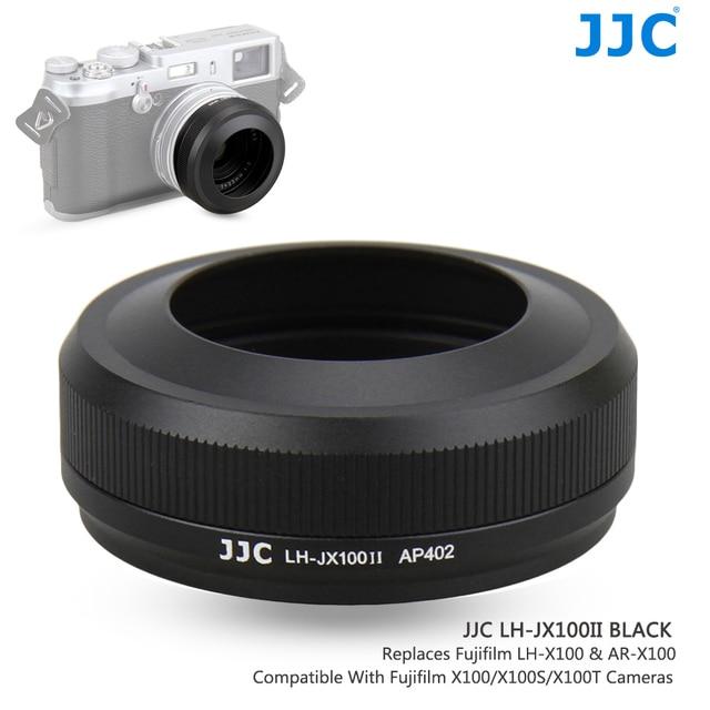 JJC Metal Lens Hood Shade with 49MM Filter Adapter Ring for Fuji FUJIFILM X100F X100T X100S X100 Camera Replaces AR X100 LH X100