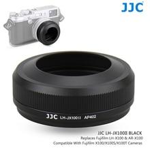 JJC Metal Lens Hood gölge ile 49MM filtre adaptörü halka Fuji FUJIFILM X100F X100T X100S X100 kamera değiştirir AR X100 LH X100