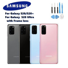100% Original SAMSUNG Battery glass Back Cover Rear Door Case Replacement Part with Frame lens For Galaxy S20 S20 PLUS S20 Ultra