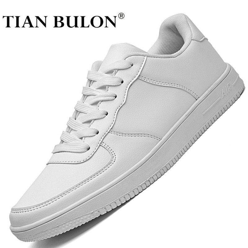 Designer White Leather Shoes Men High Quality Hip Hop Men Casual Shoes Luxury Brand Lace Up Original Sneakers Zapatillas Hombre