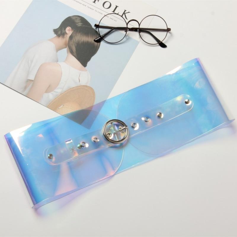 2020 Fashion Transparent Wide Belt Stylish PVC Belt Solid Corset Belt Trendy Waistband New Design Belts For Women Female ZK703