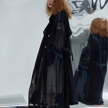 IRINACH184 2020SS NEW COLLECTION oversized long see through mesh trench coat wom