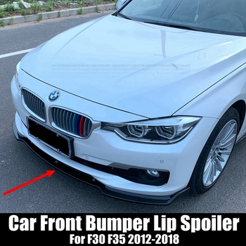 UBUYUWANT 3PCS Car Front Bumper Lip Spoiler Splitter Diffuser Detachable Body Kit Cover Guard For BMW 3 Series F30 F35 2012-2018 image