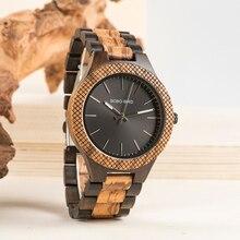 BOBO BIRD relojes de madera para hombres reloj de pulsera de cuarzo Vintage de primera marca con caja de reloj de regalo reloj masculino para hombres en regalos de madera