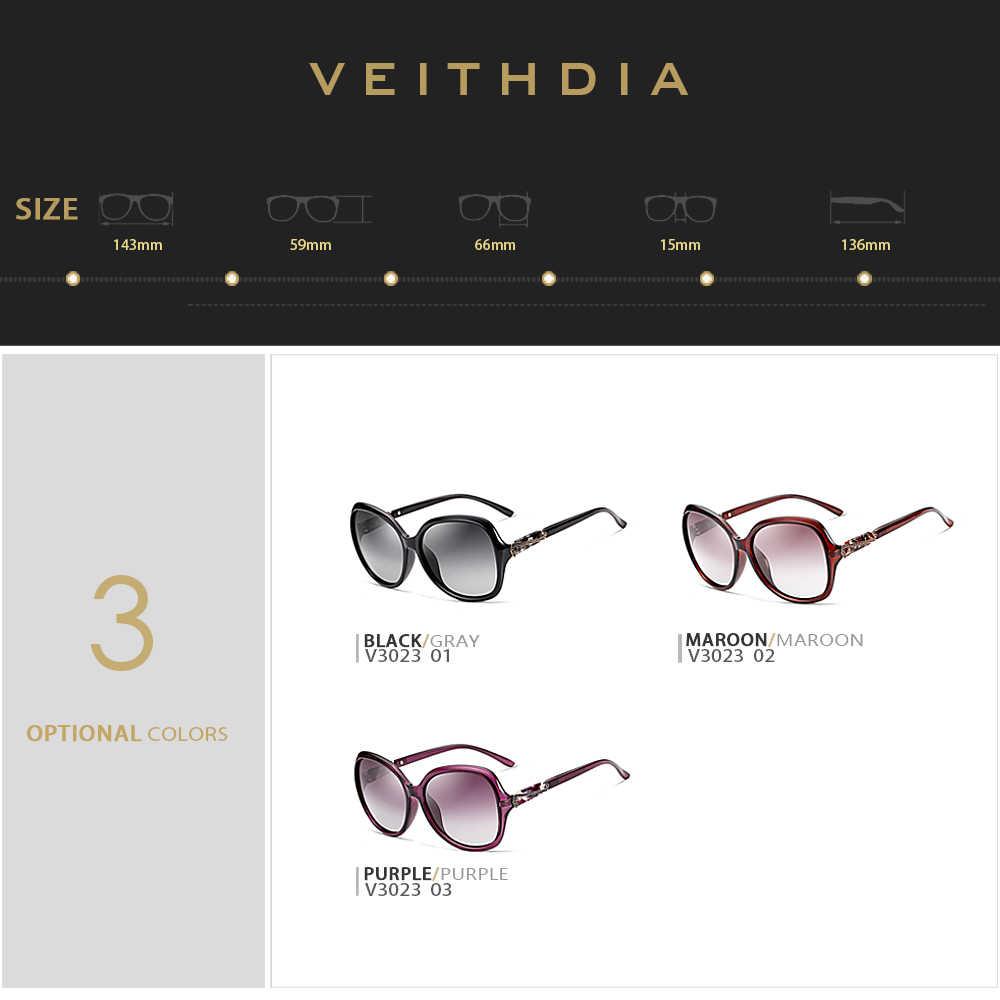 VEITHDIA แว่นตากันแดดผู้หญิงแว่นตา Polarized เลนส์แว่นตากันแดดอุปกรณ์เสริมสำหรับแว่นตาผู้หญิง 3023