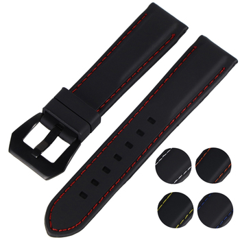 Generic Watchband Silicone Rubber Watch Strap Bands Waterproof 18mm 20mm 22mm 24mm 26mm Watches Belt