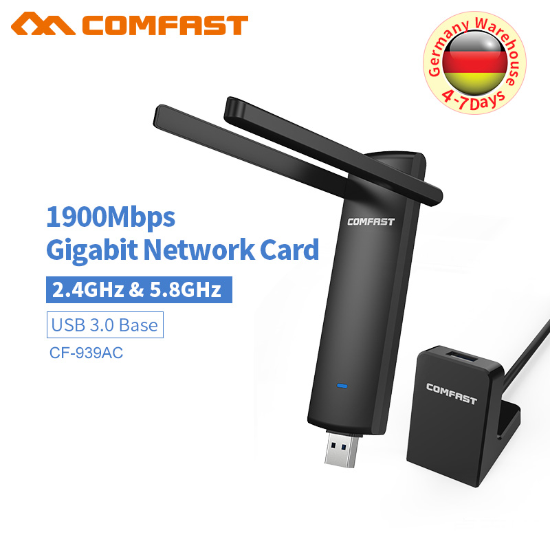 COMFAST  1900M 802.11AC Laptop Dual Band 2.4Ghz + 5Ghz USB 3.0 Wireless/WiFi AC Gigabit Adapter Dongle Adaptor With