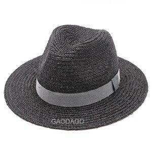 Image 4 - Duży rozmiar Panama kapelusz duże kości mężczyźni kobiety plaża fedora z szerokim rondem Cap wysokiej jakości Plus rozmiar rafia kapelusze słomkowe 57cm 59cm 61cm 63cm