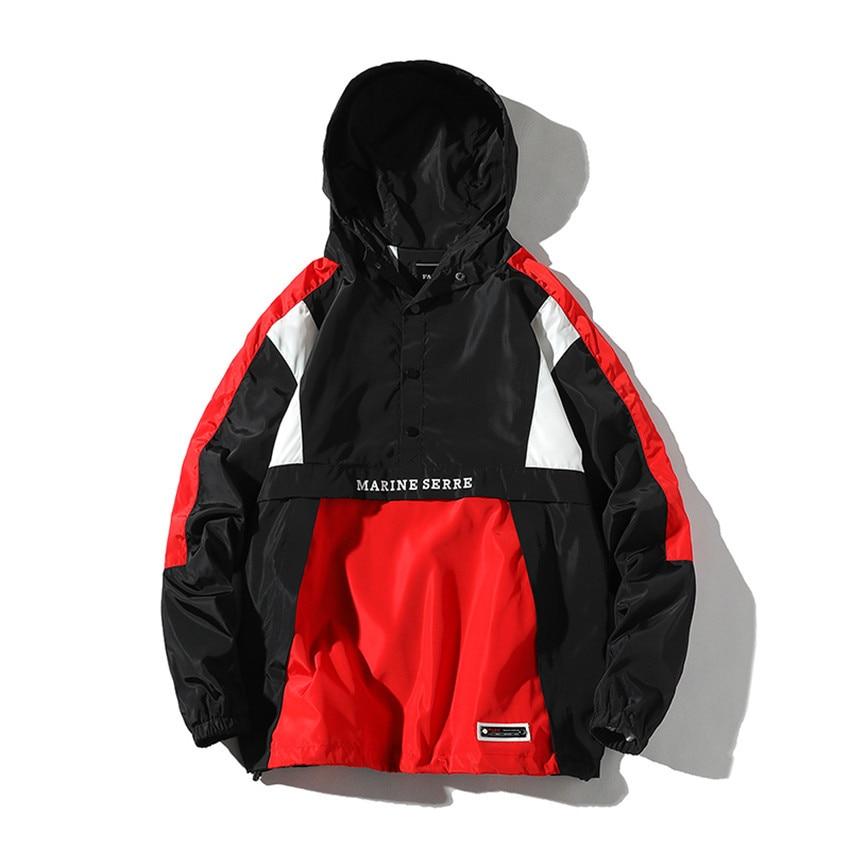 Pullover Jacket Tracksuit Wear Casual Coat Patchwork Autumn Fashion Men/women Hip-Hop