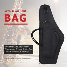 Oxford Cloth Black Shockproof Sax Backpack with Additional Side Package Double Shoulders Waterproof Universal Alto Saxophone Bag