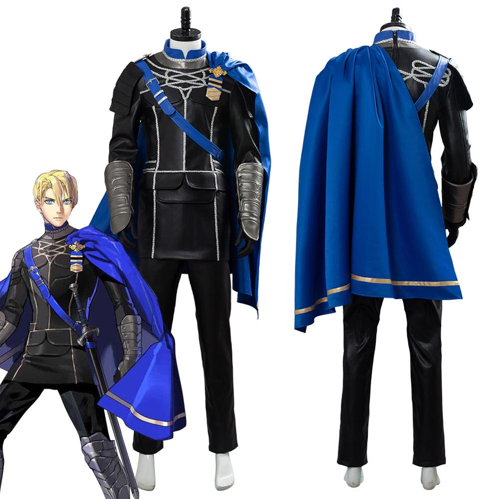 Anime Game Fire Emblem: Three Houses Dimitri Alexandre Blaiddyd/Bladud Cosplay Costume Halloween Carnival Costumes For Adult Men image