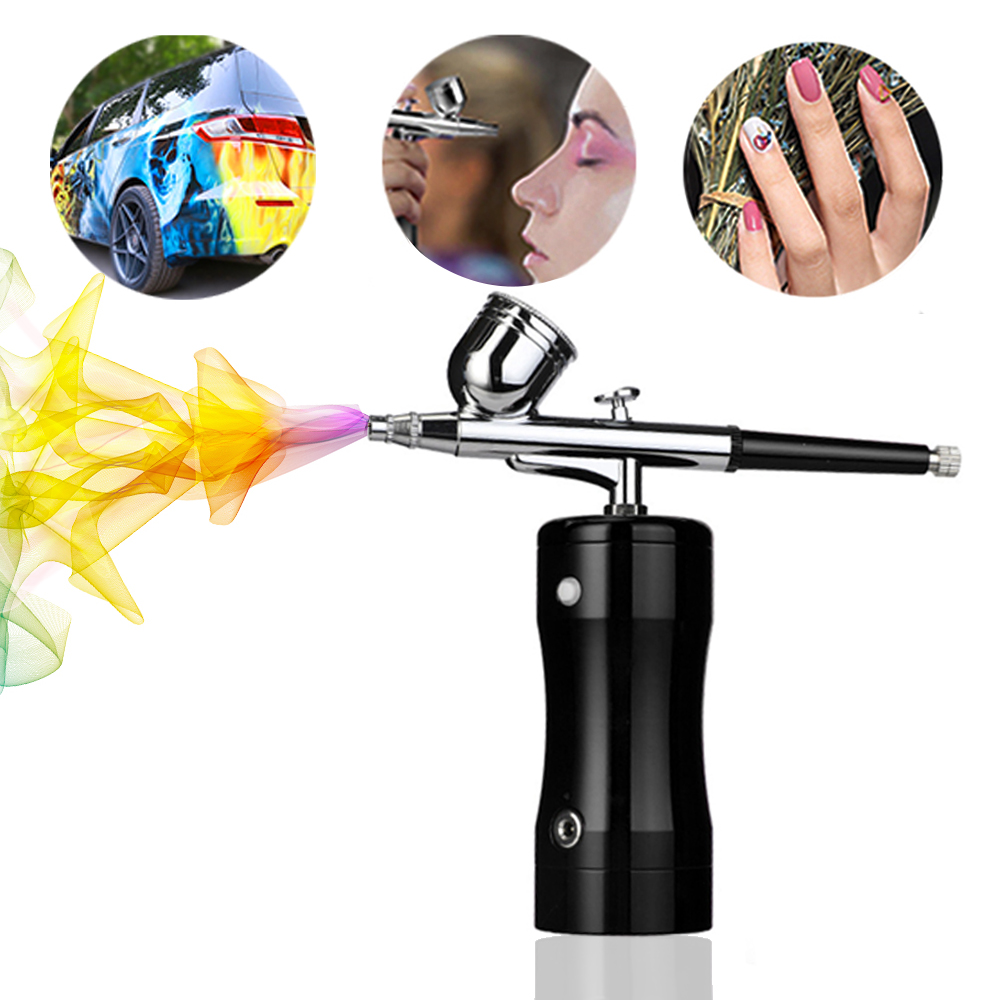 Rechargeable Portable Dual Action Airbrush Kit Wireless Air Compressor Spray Gun Makeup Art Nail Cake Temporary Tattoo Machine