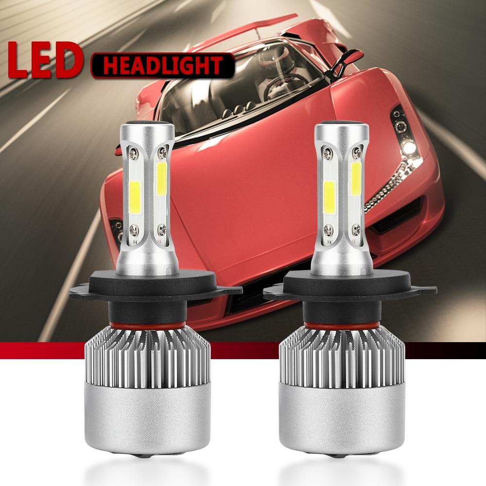 2PCS H7 LED H11 H4 Hi/Lo H1 H3 H8 HB1 HB3 HB4 HB5 PS24W HIR2 H13 H16 H27 9005 Car Headlight Bulbs 3000K 4300K 6000K 8000K COB S2(China)