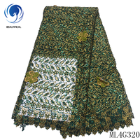 BEAUTIFICAL Cord Laces Fabrics Embroidery Dress Guipure Laces 2019 Wholesale African Guipure Cord Lace for Dress ML4G320