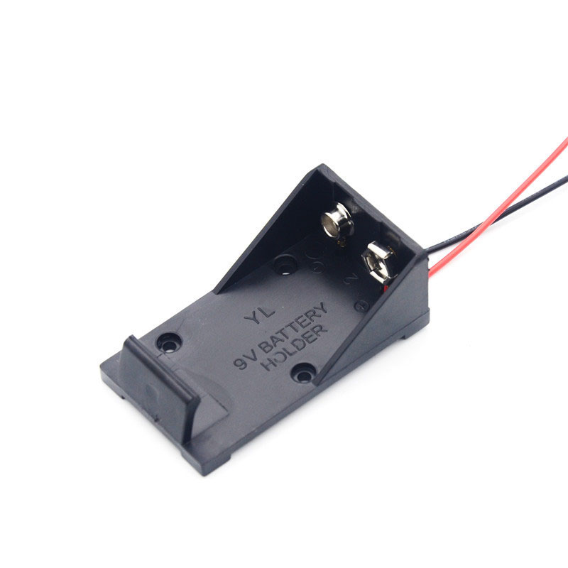 1Pcs/lot High Quality ABS DIY 9V Battery Clip Holder Case Box with Wire Leads