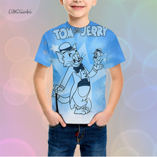 Tom and Jerry LBG New 3D Print Childrens Shirts Fashion Casual Boys Girls Sweatshirts Baby T-Shirts