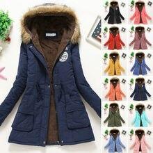 Women Winter Warm Hooded Coat Windproof Faux Fur Parka Jacket Trench Outwear women winter warm hooded coat windproof faux fur parka jacket trench outwear