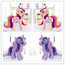 "2 pièces/ensemble licorne princesse Cadance violet princesse peluche cheval Action jouet figurines 12 ""30 CM(China)"