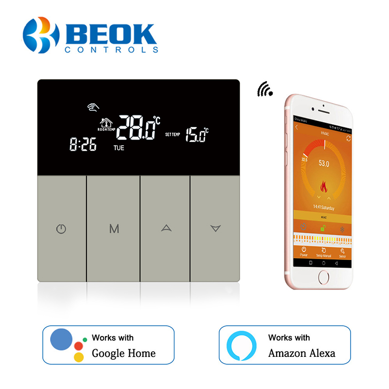 Touch Screen Thermostat Smart Temperature Controller For Gas Boiler Wifi Thermostat App Control Google Home Alexa