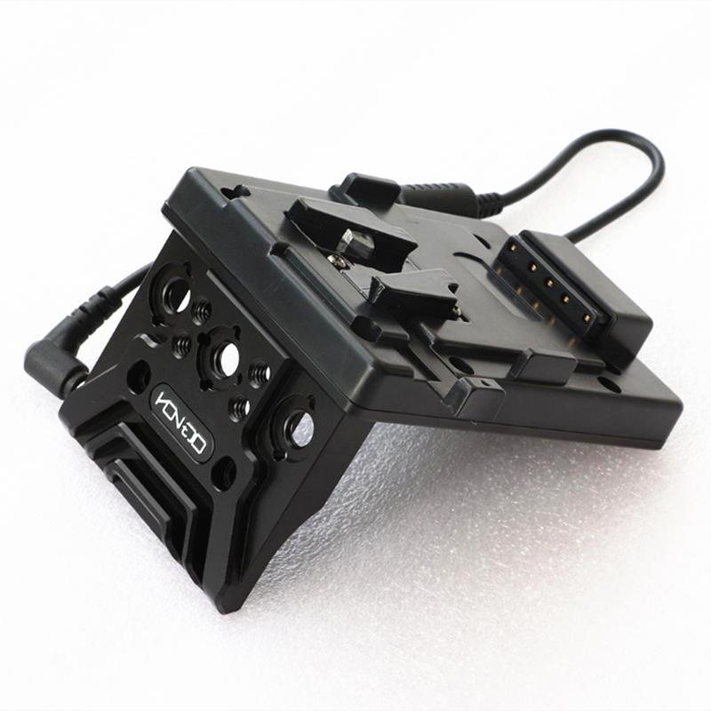 Aluminio V-Lock Batería Externa de liberación rápida placa de fuente de alimentación para V-Mount