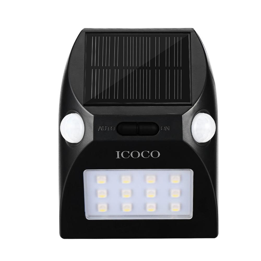 12LED Outdoor Motion Sensor Solar Lights Wide Angle Design With White & Red Color Adjustable Brightness 2 Motion Heads