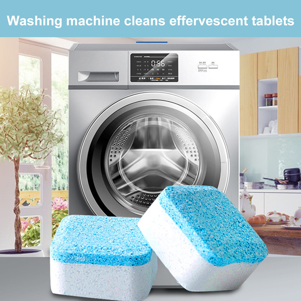 12Pcs Washing Machine Tank Cleaning Tablets Effervescent Tablets Clothes Cleaning Pieces