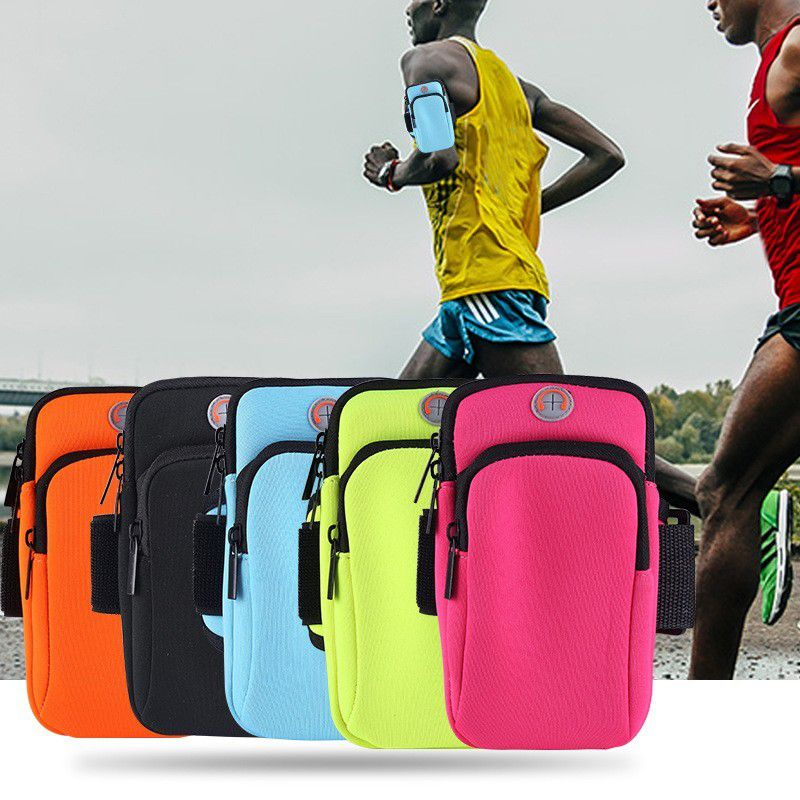 Running Arm Bag Large Capacity Water Resistant Phone Key Pouch Holder Outdoor Gym Sports Wrist Elbow Bags