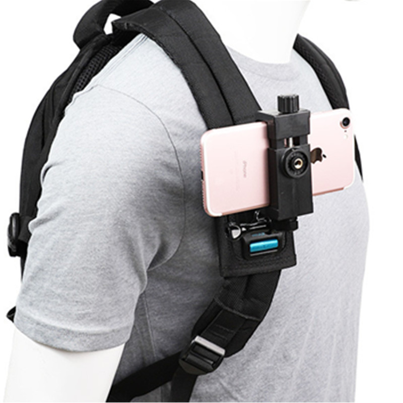 Smartphone Chest Mount Harness Strap Holder w// Cell Phone Clip Adjustable