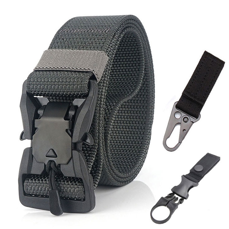 NEW Military Tactical Belts Men's Jeans Belt Army Style Nylon Magnetic Buckle Waist Belt Outdoor Hunting Accessories Waistband