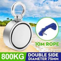 800 кг d94мм двухсторонний неодимовый магнит для рыбалки металлическая Охота морское сокровище поиск восстановление мощный магнитный + 10 м ве...