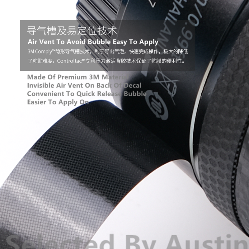 RAYANSPHOTO Lens Guard Skins Wrap Cover Decal Protector Wear Case for Sony Zoom Lenses Series Pattern Carbon Black E 10-18mm F4 OSS
